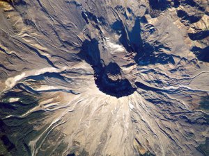 Mt. St. Helens from space