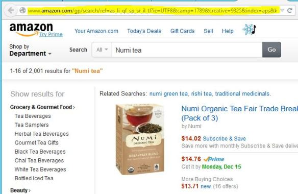amazon page