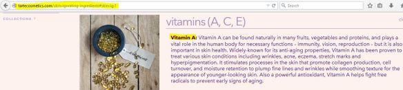 tarte cosmetics vitamin a
