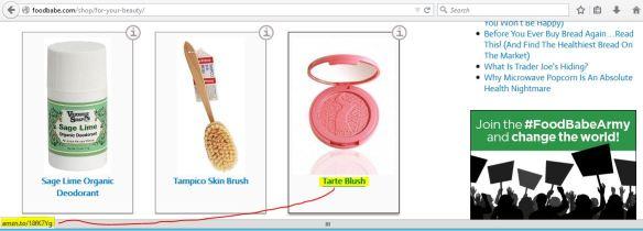 tarte blush on foodbabe.com