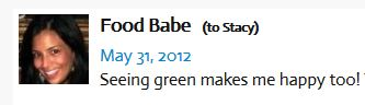 food babe seeing green