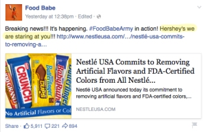 food babe hershey nestle