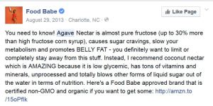 Food Babe agave warning