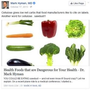 Mark Hyman doesn't like cellulose