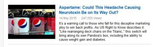mercola aspartame