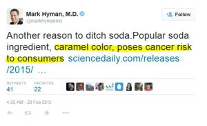 hyman tweet on caramel color