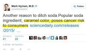 hyman tweet on caramel color