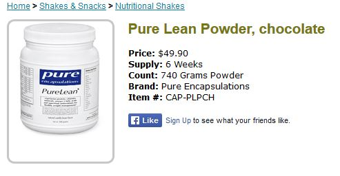 pure lean powder with hyman cane sugar