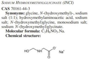 sodium hydroxymethylglycinate