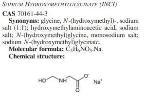 sodium hydroxymethylglycinate