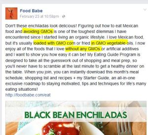 food babe gmo post