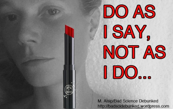gwyneth paltrow lipstick graphic by mark alsip