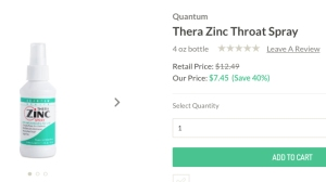 quantum thera zinc spray from thrive market