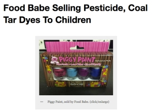 piggy paint sold by food babe contains artificial colors