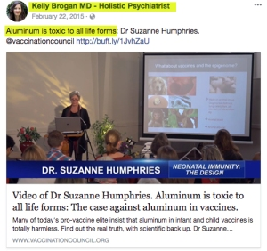 If Dr. Brogan says aluminum is toxic to all life forms, perhaps she shouldn't be selling it to the life forms who follow her on social media.