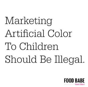 food babe children artificial color