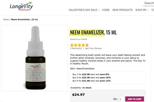 longevity warehouse neem oil--a pesticide