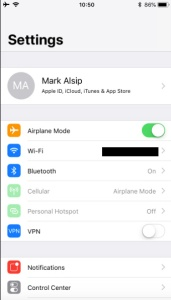 wifi settings for iphone